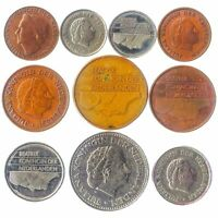 10 DIFFER. DUTCH COINS. OLD HOLLAND   NETHERLANDS MONEY CURRENCY: CENTS GULDEN