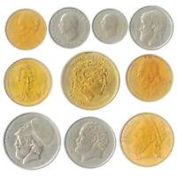 10 DIFFERENT COINS FROM GREECE. OLD GREEK MONEY: DRACHMAS LEPTA. 1954 2002