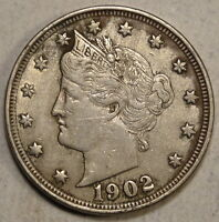 1902 LIBERTY NICKEL,  FINE WITH LUSTER, DISCOUNTED  0511-20