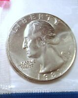 1981 P WASHINTON QUARTER UNCIRCULATED IN MINT CELLO NICE