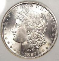 1887-S MORGAN SILVER DOLLAR - NGC MINT STATE 64 PQ -  DATE COIN -  IN MINT STATE 64