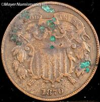 1870 TWO CENT PIECE 2C 3606.D0931 VF   FINE  CORRODED