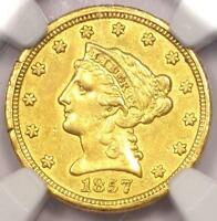 1857 O LIBERTY GOLD QUARTER EAGLE $2.50   NGC AU DETAIL    NEW ORLEANS COIN
