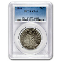 1844 LIBERTY SEATED HALF DOLLAR XF 45 PCGS   SKU 95932