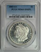 1883 CC MORGAN SILVER DOLLAR PCGS MS 64 DMPL