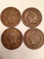 1901  1904 INDIAN HEAD CENTS