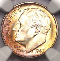 1947 S ROOSEVELT DIME 10C. CERTIFIED NGC MS67 FT   POSSIBLE VARIETY   SEE PHOTOS