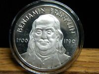 BENJAMIN FRANKLIN1706   1790PROCLAIM LIBERTY THROUGHOUT.999 FINE SILVER