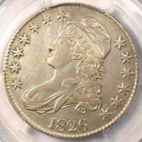 1826 CAPPED BUST HALF DOLLAR 50C   PCGS XF DETAILS EF    CERTIFIED COIN