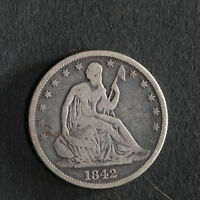 1842 P SEATED HALF DOLLAR GREAT DEALS FROM THE TECC BARGAIN BIN