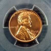 1956 D     LINCOLN CENT    PCGS    CERTIFIED       MS 66  RED     30722340  6C