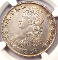 1826 CAPPED BUST HALF DOLLAR 50C O 118A   NGC AU DETAILS   R DATE COIN