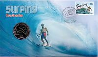2013 AUSTRALIA POST PNC   SURFING WITH 50 CENT COIN