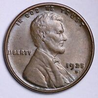 1925-D LINCOLN WHEAT CENT PENNY CHOICE UNC SHIPS FREE E193 NM