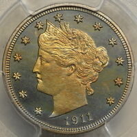 1911 LIBERTY NICKEL, STUNNING SUPERB GEM PROOF, PCGS/CAC PF-66, GREAT COLOR, PQ