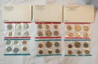 1970 1971 1972 US UNCIRCULATED MINT SET.IN ORIGINAL PLASTIC AND PACKAGING.