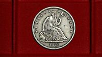 1871 S 50C SEATED LIBERTY HALF DOLLAR COMPLETELY ORIGINAL NO PROBLEM XF