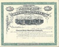 PHILLIP BEST BREWING COMPANY..1800'S UNISSUED STOCK CERTIFICATE