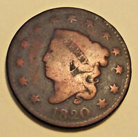 1820 MATRON HEAD LARGE CENT  LOT Y91  LARGE DATE   SEE PHOTOS U GRADE