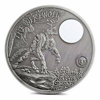 SILVER PLATED SOUVENIR PALAU MOON NIGHT WEREWOLF COMMEMORATIVE COIN COLLECTION