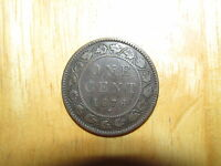 CANADA 1876 H LARGE CENT COIN GOOD NICE