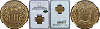 1871 TWO CENT PIECE NGC MINT STATE 64 RB CAC