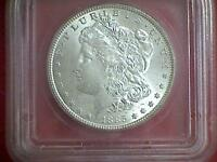 1885 MORGAN SILVER DOLLAR ICG MINT STATE 62 VAM-4A $1 ELITE CLASHED DIE SUPER CD