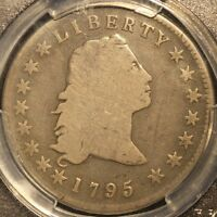 1795 FLOWING HAIR DOLLAR 3 LEAVES VARIETY PCGS G6 W/ CAC STICKER 3 DAY RETURN