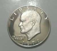 US COINS 1978 S GEM BU UNCIRCULATED EISENHOWER DOLLAR MIRRORED BEAUTIFULLY