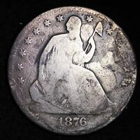 1876 CC SEATED LIBERTY HALF DOLLAR CHOICE G  E334 NF