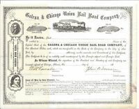 GALENA & CHICAGO UNION RAIL ROAD COMPANY..1860'S UNISSUED STOCK CERTIFICATE