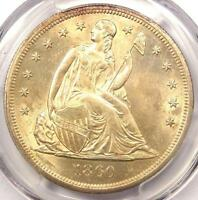 1860 O SEATED LIBERTY SILVER DOLLAR $1   PCGS UNCIRCULATED DETS UNC MS