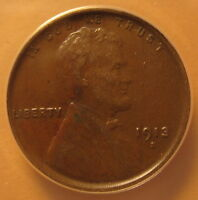1913-S LINCOLN CENT. CHOICE  FINE ANACS EF45