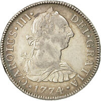 [503912] MEXICO CHARLES III 2 RALES 1774 MEXICO CITY SILVER KM:88.2