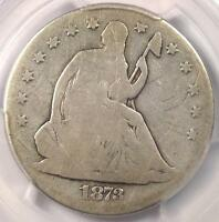1873 CC NO ARROWS SEATED LIBERTY HALF DOLLAR 50C   CERTIFIED PCGS GOOD DETAILS