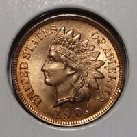 1904 INDIAN HEAD CENT  CHOICE BU RED