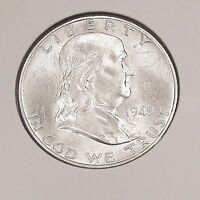 FRANKLIN  1949  D    BRILLIANT  UNCIRCULATED