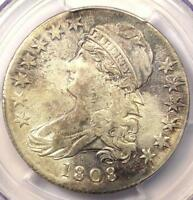 1808 CAPPED BUST HALF DOLLAR 50C   PCGS AU DETAILS    DATE CERTIFIED COIN