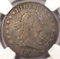 1806/5 DRAPED BUST QUARTER 25C    NGC VF25    EARLY COIN