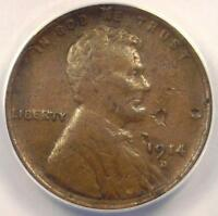 1914-D LINCOLN WHEAT CENT 1C - ANACS VF30 DETAILS -  DATE CERTIFIED PENNY