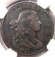 1801 DRAPED BUST LARGE CENT 1C 100/000 S 221   NGC VF DETAILS    COIN