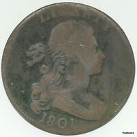 1801 DRAPED BUST LARGE CENT 3 ERRORS VARIETY