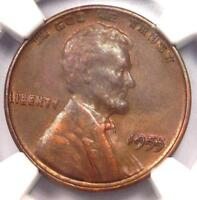 1955 DOUBLED DIE OBVERSE LINCOLN CENT PENNY 1C DDO   NGC AU DETAILS