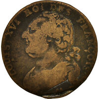[79811] FRANCE 12 DENIERS FRANOIS 1791 METZ BRONZE KM:600.2