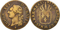 [414956] FRANCE LOUIS XVI SOL 1791 METZ COPPER KM:602.1 GADOURY:350