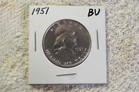 1951 FRANKLIN HALF DOLLAR CHOICE BU   NEAR FULL BELL LINES   NICE