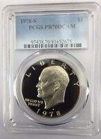 1978 S $1 PCGS PR70DCAM IKE EISENHOWER PROOF DOLLAR PERFECT GRADE FLAWLESS COIN