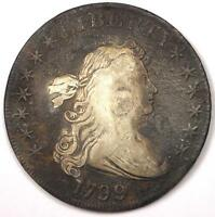 1799 DRAPED BUST SILVER DOLLAR $1   FINE DETAILS VF    TYPE COIN