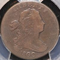 VERY ATTRACTIVE 1800/79 DRAPED BUST LARGE CENT PCGS VG10 3 DAY RETURN