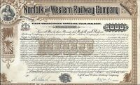 NORFOLK AND WESTERN RAILROAD COMPANY..1939 GOLD BOND